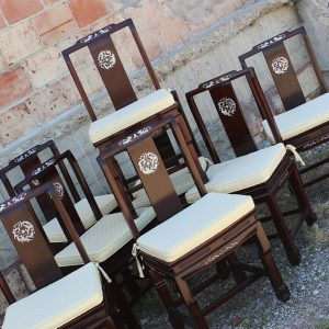 Dark Chairs with Inlay | www.warehouse414.com