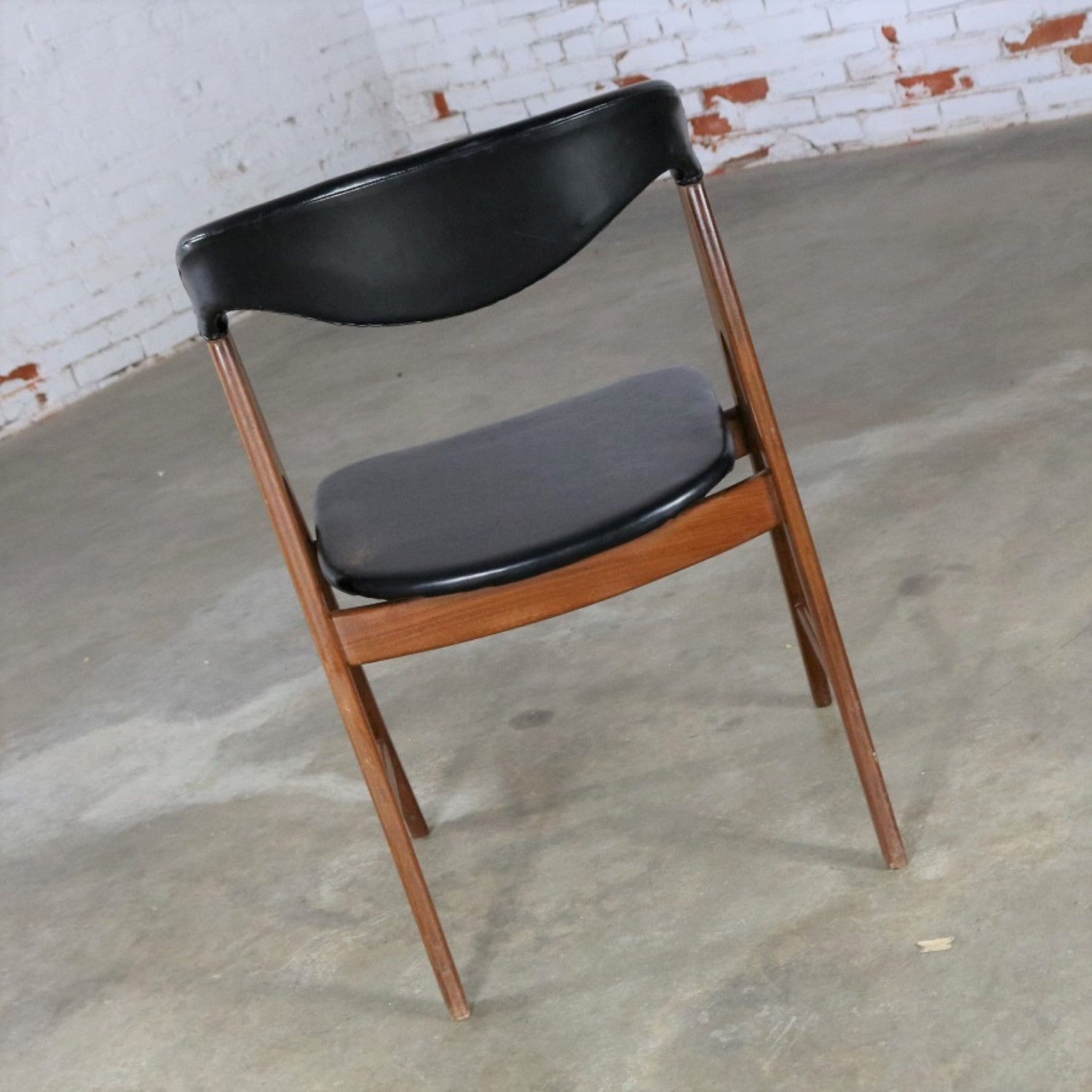 Small a frame scandinavian modern side chair manner of kai for Small side chair