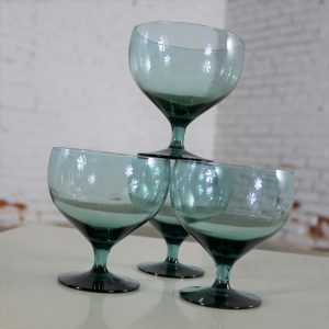 Russel Wright Morgantown American Modern Sea-Foam Champagne Coupes or Goblets